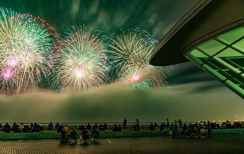 Green Haze - Foggy Lakefront MAM Fireworks-17
