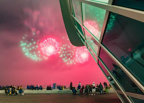 Red Fog - Foggy Lakefront MAM Fireworks-24