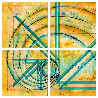 100 Days of Abstracts: 95-98/100 -- Golden Spiral Series (I-IV)