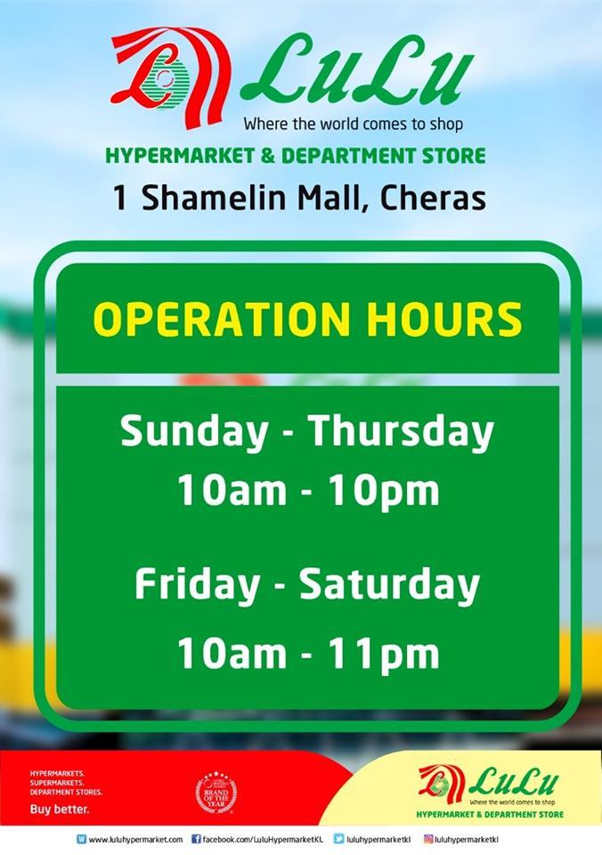 LuLu Hypermarket Kini Dibuka di 1 Shamelin Mall