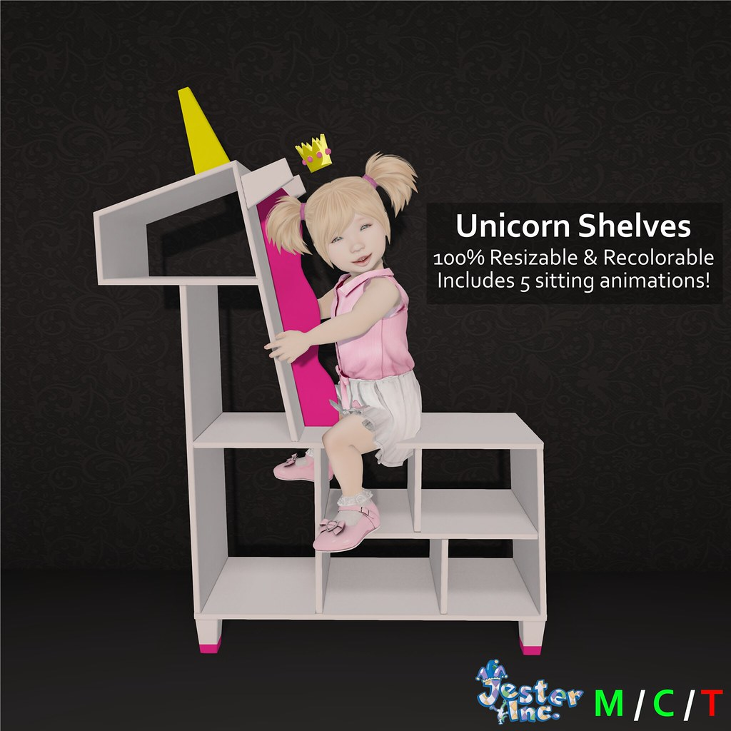 Presenting the new Unicorn Shelves from Jester Inc.