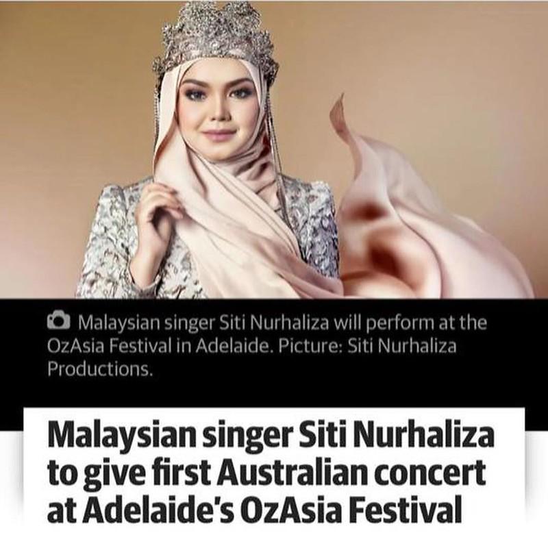 Siti Nurhaliza Bakal Perform Di Di Festival Theatre, Adelaide, Australia