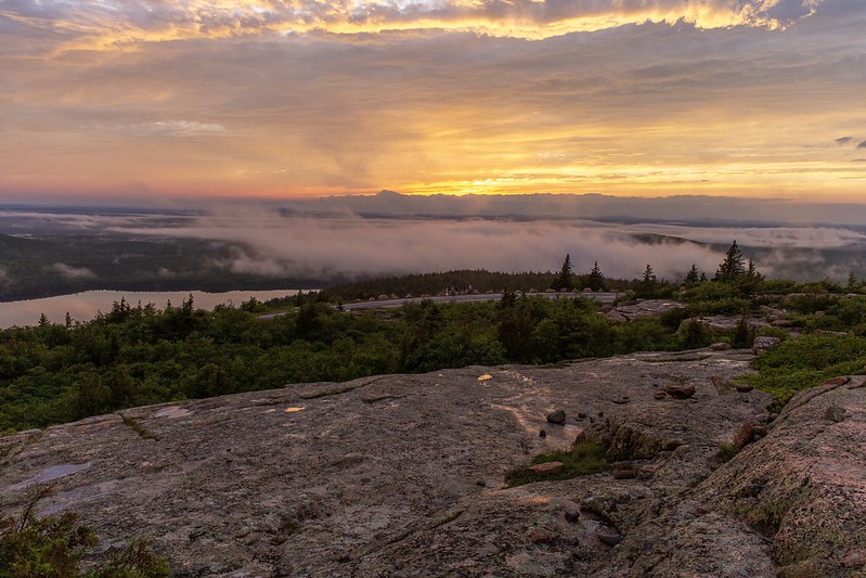 Sonnenuntergang am Cadillac Mountain.