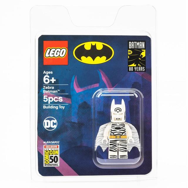 白銀時代蝙蝠俠的爆笑造型樂高化! LEGO DC Comics【斑馬蝙蝠俠】Zebra Batman【2019 SDCC 限定】