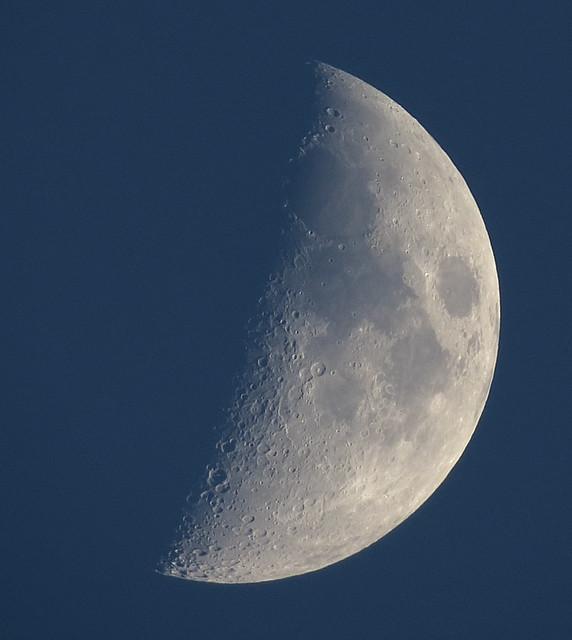 Waxing Crescent Daylight Moon Is 36% Illuninated IMG_6044