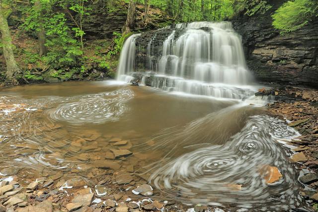 Rock River Falls, Rock River, Rock River Canyon Wilderness, Hiawatha National Forest, Alger County, Michigan 2