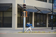 Walking Guy On The Corner