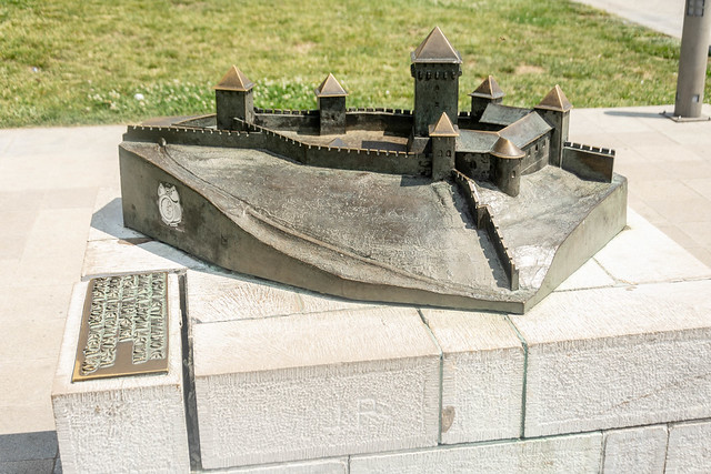 The model of the old fortress at Kalemegdan in Belgrade