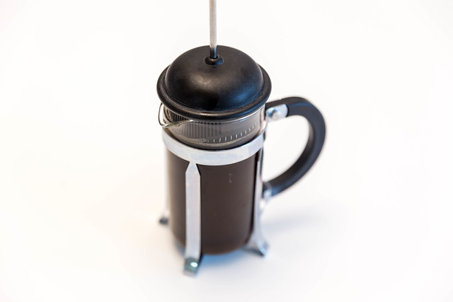 Kaffeebereiter French Press, als Alternative zur Kaffeemaschine