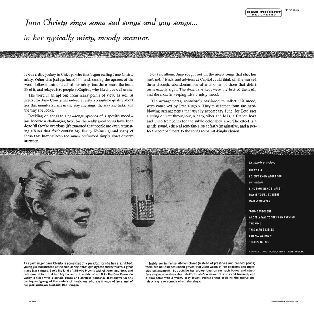 June Christy - The Misty Miss Christy