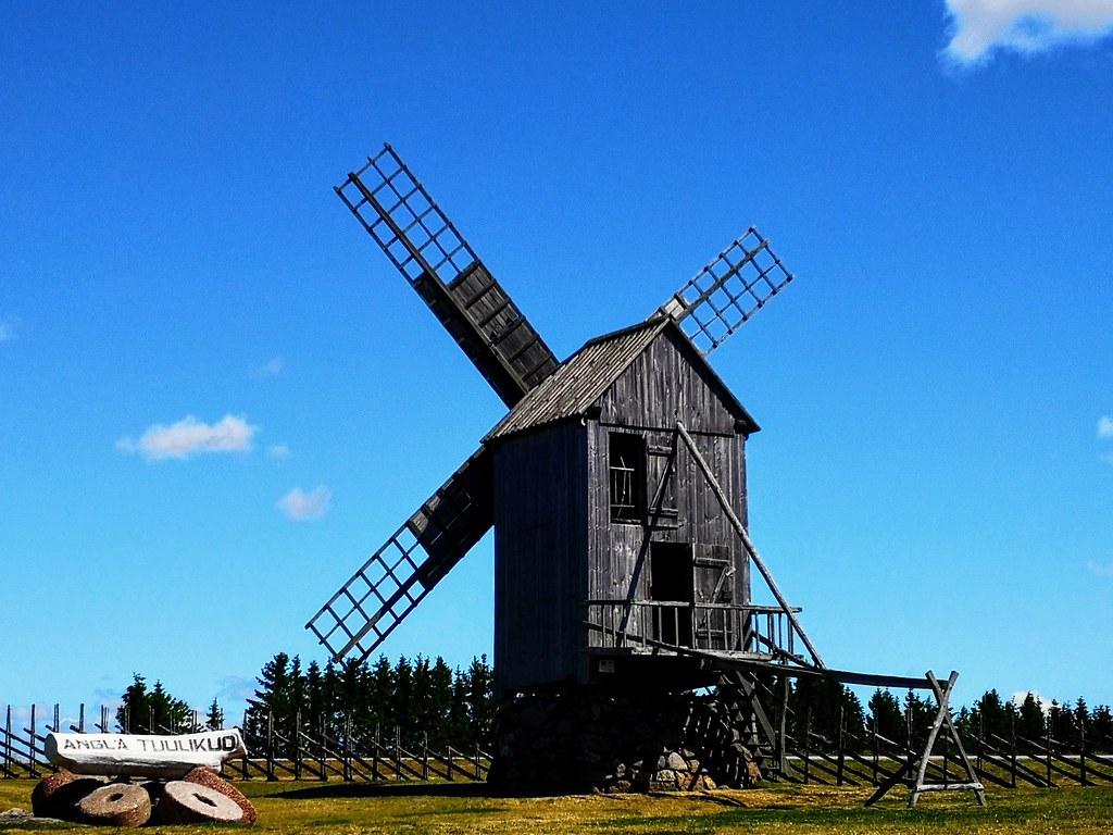 Angla windmill Saaremaa