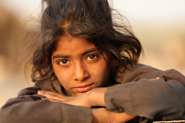 India, beautiful Gypsy girl in Pushkar
