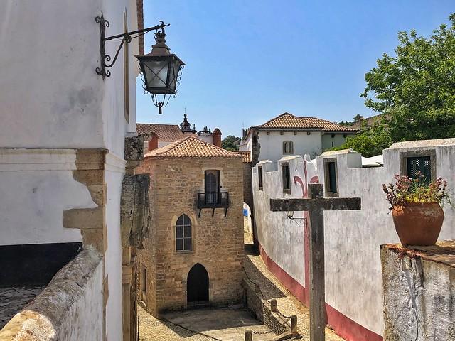 Detalle de Óbidos en la Portugal templaria