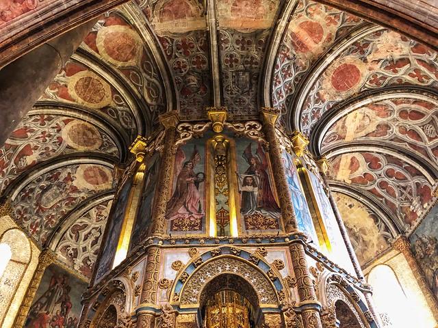 Charolao girola del Convento de Cristo de Tomar en Portugal, el corazón templario