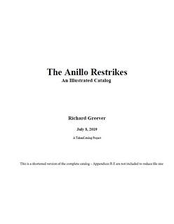 The Anillo Restrikesbook cover