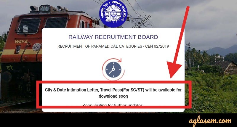 RRB Paramedical 2019: Exam Date and City Out Soon