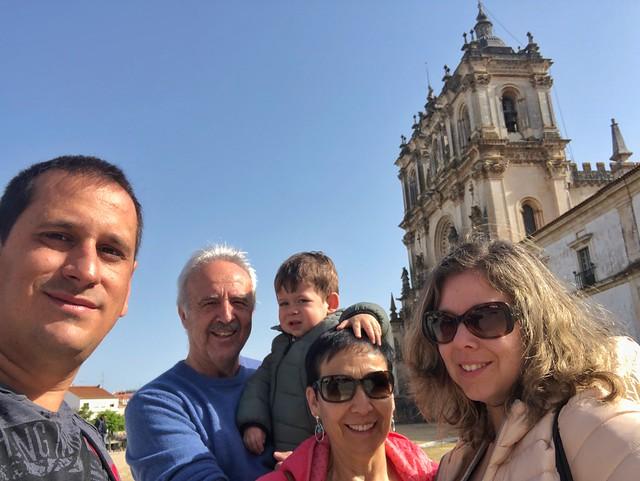 Con Unai en Alcobaça (Portugal)