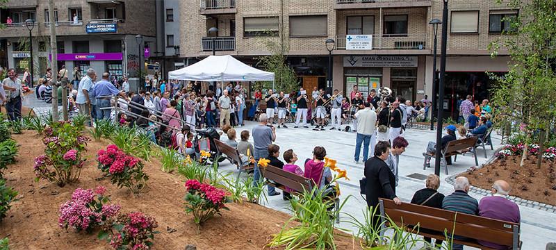 Imagen de la plaza de Kaltxango en la inauguración