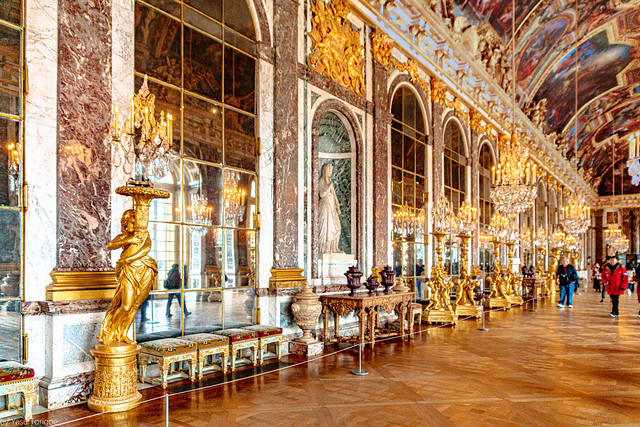 The Hall of mirrors of the Versailles Palace, France-44a