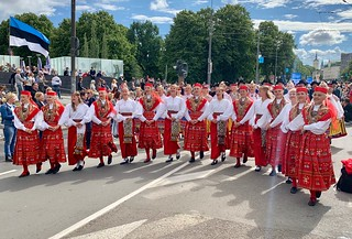 Estonian Song Festival 2019 — Parade Through the Streets