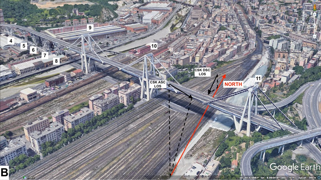 An illustration of the Morandi Bridge before its collapse