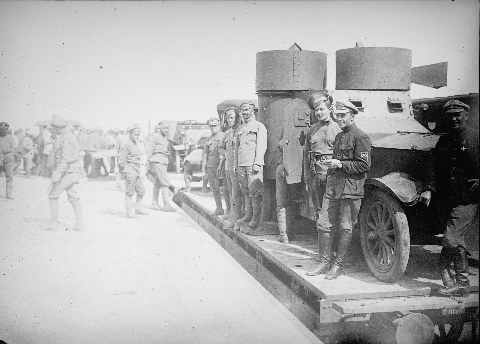 1918. Бронеавтомобиль «Грозный» 1-го полка чехословацкого легиона на ст.Пенза