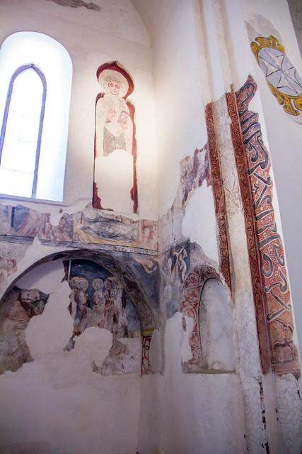 pintura mural interior Ermita Iglesia del Cristo de la Luz antigua Mezquita de Bab al-Mardum Toledo