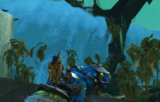 WoW BfA RoA Nazjatar South Monk on Mount