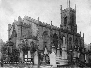 Postcard - St Paul's Church, Shipley