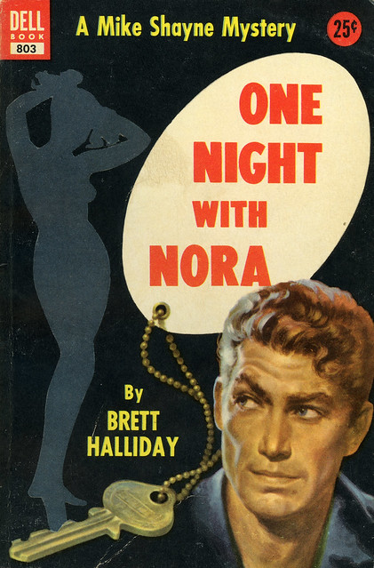 Dell Books 803 - Brett Halliday - One Night with Nora