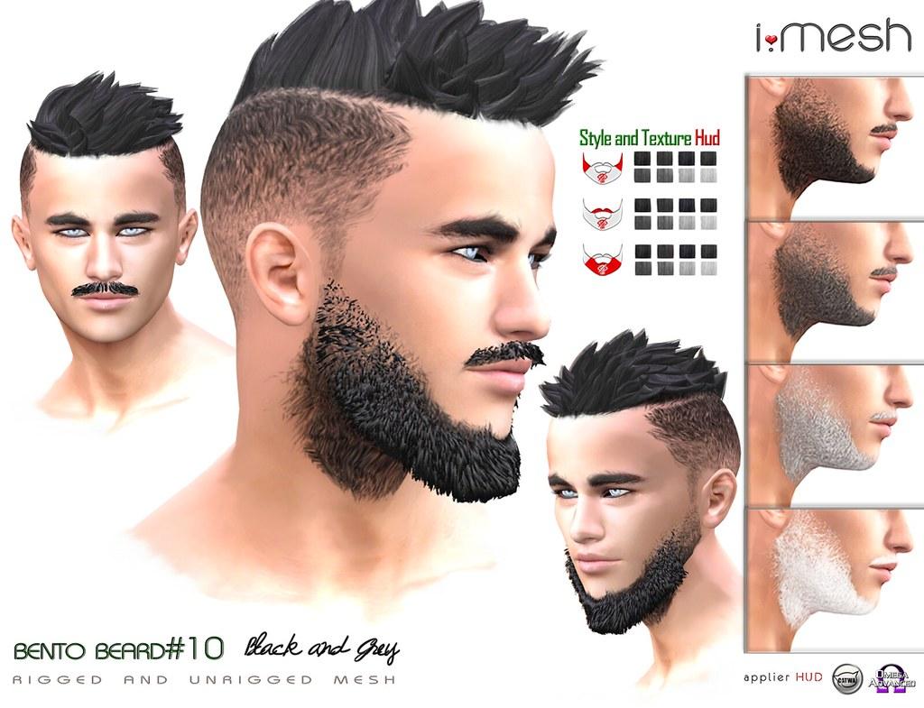 Beard#10 Black - TeleportHub.com Live!