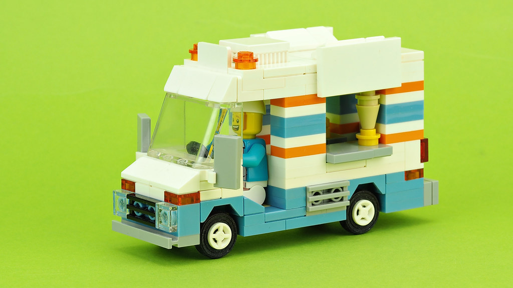 Ice Cream Truck (custom built Lego model)