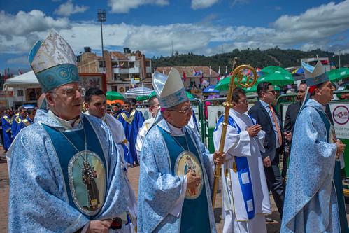 Peregrinación de los obispos a la Basílica de Nuestra Señora del Rosario de Chiquinquirá