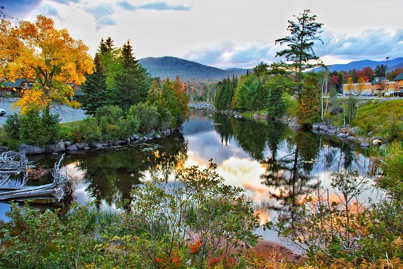 Lake Placid - New York  ~ Adirondack Mountains  ~ Historical - Sunset Reflection