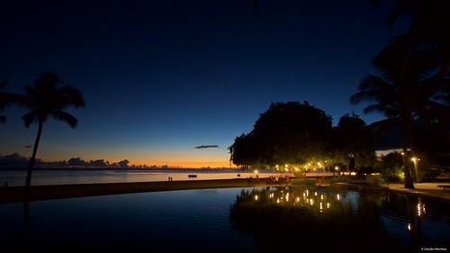maradiva flicenflac mauritius flic en flac sunset people sea ocean deck dusk sun pentax pentaxk3ii pentaxart romantic ship cargo horizon dark cruise sigma sigmalens sigmaart sigma1020 lights beach sand pool reflections