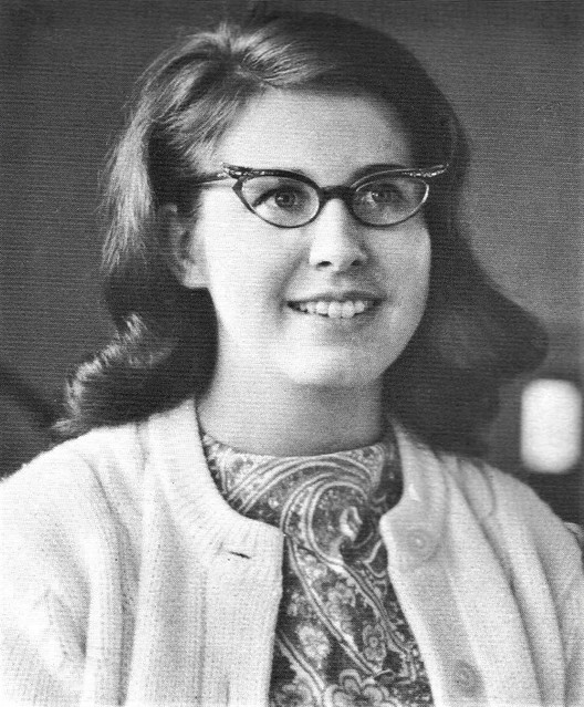 Miss Rickard teaching Choral at  Sacred Heart High School in Los Angeles, CA 1970