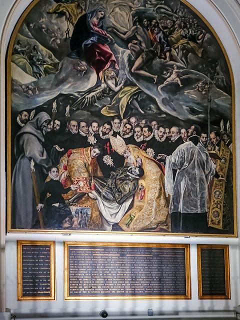 pintura Entierro del Conde de Orgaz El Greco Iglesia Santo Tome Toledo 01