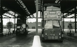c1955 – 2 London Transport Trolleybuses and Colindale.