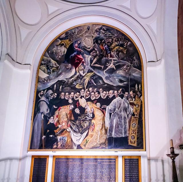 pintura Entierro del Conde de Orgaz El Greco Iglesia Santo Tome Toledo 02