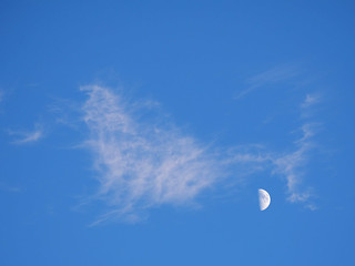 cloud half moon