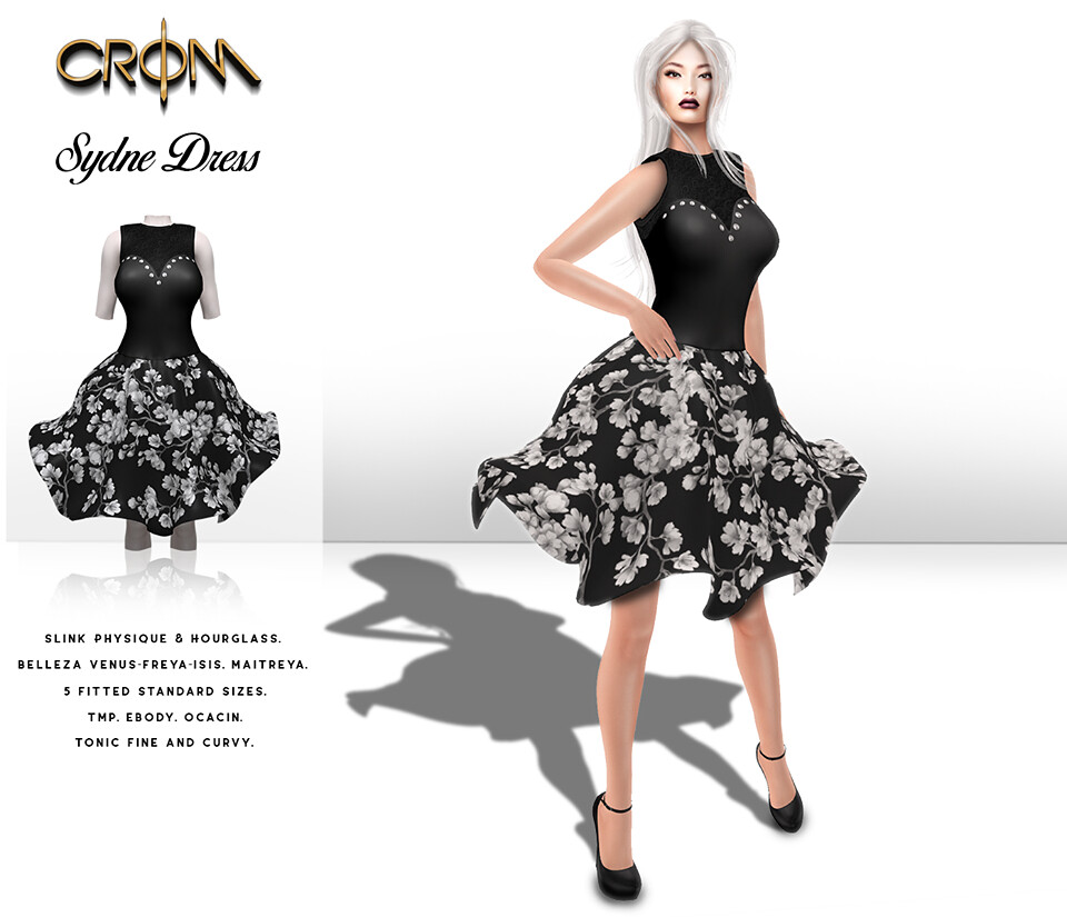 -CroM- 5 L Black&White Dress