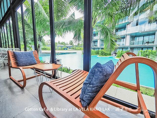 cotton café library la vela khao lak