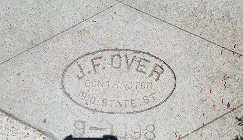 Sidewalk Marker J.F. Over September 1898 - Coronado Californa