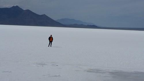 Lisa on the Salt Flats