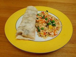 Mu Shu Burritos; Thai-Style Pineapple Rice Salad