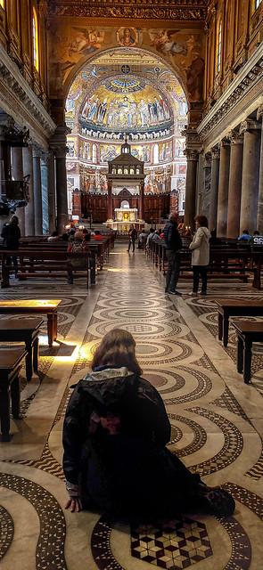 In the Basilica di Santa Maria in Trastevere