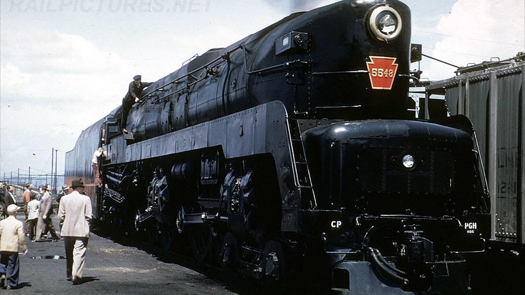 PRR 4-4-4-4 T1 Steam Locomotive In Color 11! | prrt1steamloc
