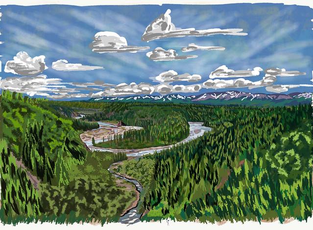 My Travel Paintings - Hurricane Gulch Denali State Park