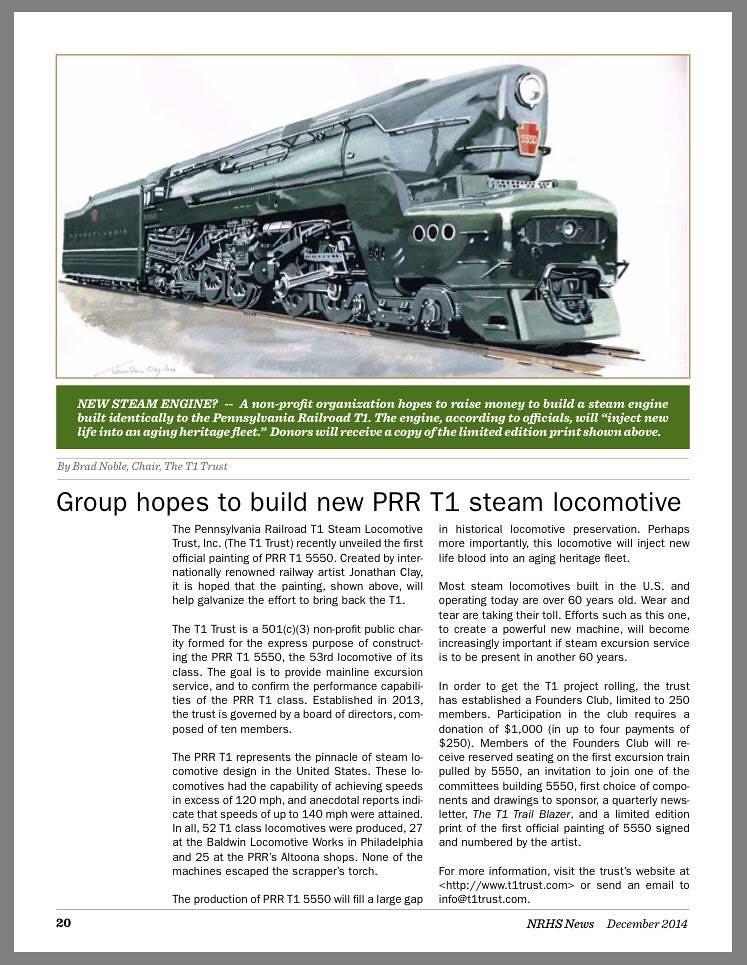 PRR T-1 5550 article 07 | prrt1steamlocomotivetrust org/ - P