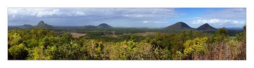 Glasshouse Mountains Panorama
